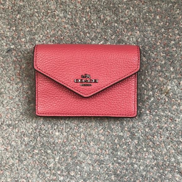pretty nice 4f124 59b2c Coach envelope card case NWT